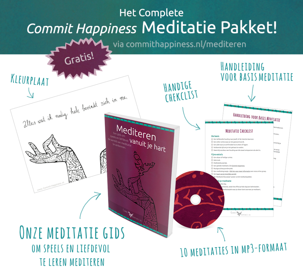 het complete commit happiness meditatie pakket