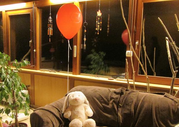 konijn met ballon