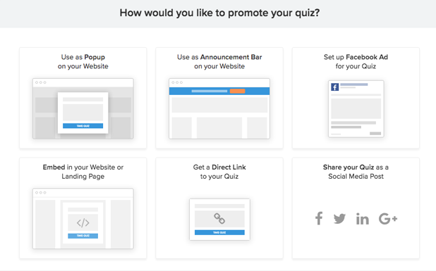 quiz promote and share